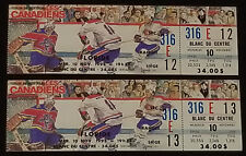 1993 - MONTREAL CANADIENS vs FLORIDA PANTHERS - MONTREAL FORUM UNUSED TICKET (2)