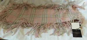 BURBERRY SCARF NEW PINK & GREY CHECK (H/14)