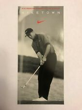 TIGER WOODS 1996 Niketown Promo Rookie Card RC Nike Golf Very Rare