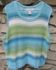 Maggie McNauchton Knit Sweater Jumper Top Size 3X Sleeveless Polyester
