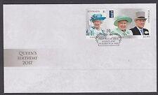 Australia 2017 Queen Elizabeth's Birthday Fdc Single Stamps