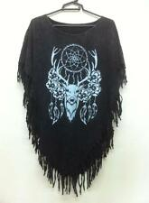 Bleach Women's Poncho Dress DREAM CATCHER Fashion Tunic Top Blouse Shirt Tassels