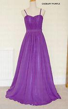 A-LinePrincess Full-Len Spaghetti straps Chiffon Evening Bridesmaid Dress(JS50)