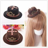 Vintage Victorian Gothic Steampunk Mini Hat Pattern Gear Hair Clip Hairpin