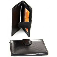 Men's Genuine Leather Euro style Bifold Hipster Mens Wallet ID-Credit Card Black