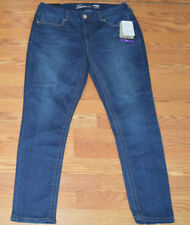 NWT Womens SEVEN 7 Royal Dark Wash Tummyless Skinny Denim Jeans Pants Sz 16 $69