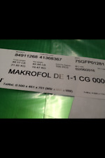 Clear Polycarbonate Sheet 100 pcs 0.50x461x701 (MM) Makrofol DE1-1 Lexan compare