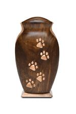 New listing 5 paw wood pet urn