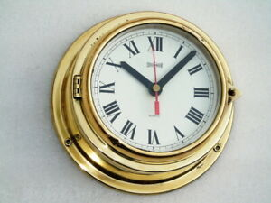 ALL BRASS STOCKBURGER GERMANY SHIPS BOAT YACHT MARINE QUARTZ CLOCK DECK WATCH