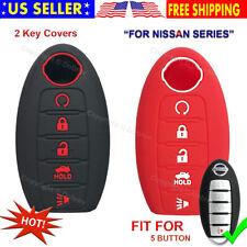 Silicone Cover Entry Fob Case Skin Nissan Armada Sentra Murano Pathfinder 5 Key
