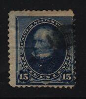 1890 Sc 227 3c purple used single CV $25