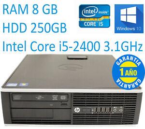 PC HP 8200 SFF Core i5-2400 RAM 8GB HDD 250GB W10