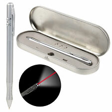 3 in 1 Laser Pointer Pen LED Torch Ballpoint Laserpen Gadget Presentation Case