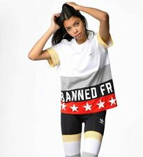 ADIDAS ORIGINALS RITA ORA BANNED FROM NORMAL T SHIRT  BNWT SIZE UK 8