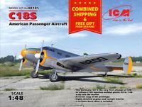 ICM 48185 - 1/48 C18S American Passenger Aircraft, plastic kit scale model