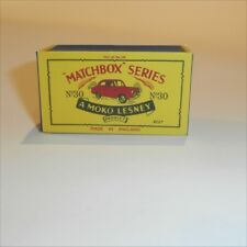 Matchbox Lesney 30 a Ford Prefect empty Repro B style Box