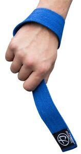 Strength Shop Originals Lifting Straps (Blue) - Weightlifting Snatch Deadlift
