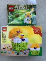LEGO Easter Egg (40371) & Easter Bunny (30550) New in Hand