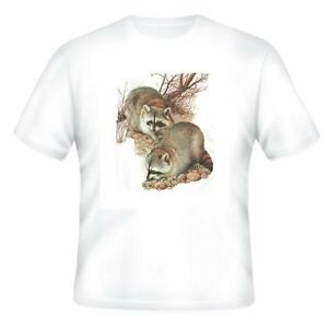 Nature Pets Animals T-shirt Raccoon Raccoons