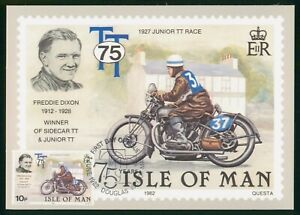 Mayfairstamps Isle of Man FDC 1982 Fredie Nixon on Motorcycle First Day Card wwo