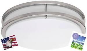 iLett 15 Watts LED Flush Mount Ceiling Light 12 in Dimmable 6000K (Cool White)