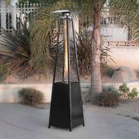 42,000 BTU Pyramid Flame Heater Patio Garden Outdoor Yard Warmth Gazebo Black