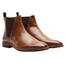 Redfoot Rawlings Mens Tan Leather Slip On Chelsea Boots RRP £90 UK 8/Euro 42