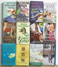 12 Thick MODERN ROMANCE NOVELS Free US S/H Lot #A538 Popular Authors - Read List
