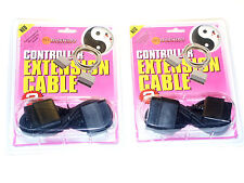 2x Controller Verlängerung Extension Cable for Playstation PS1/2 (PS0004)