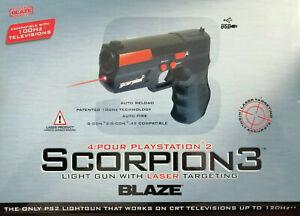 PISTOLA LASER SCORPION 3 BLAZE PS2 SONY PLAYSTATION 2 NUOVO SIGILLATO RARO 100HZ
