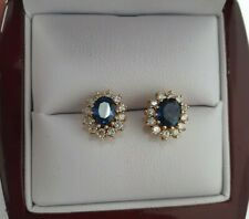 585 Gelbgold Ohrstecker Diamant/Brillant , Saphir