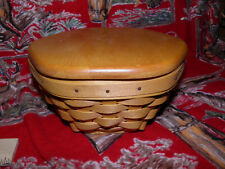 Vintage Longaberger Hexagon Basket with Flat Lid