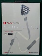 NEW Chrome Lady Gaga Heart Beats Headphones In-Ear Beats By Dr. Dre Monster iPod