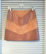 camel faux leather cntr mini skirts S urban outfit