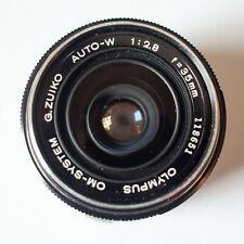 Olympus OM-System G.Zuiko Auto-W 35mm 2.8 lens