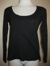 Ladies Emerge Black Long Sleeve Top Size S