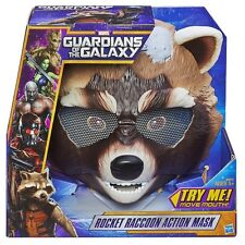 Halloween Mask Marvel Guardians  Galaxy Rocket Raccoon Galaxy Groot Fox Action