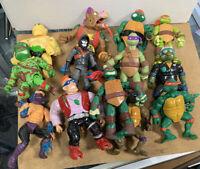 Vintage Teenage Mutant Ninja Turtles Lot 13 Action Figures & Accessories