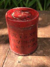 Indian Army Surplus Detonator Tin Container Ammunition Military India EMPTY 1