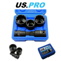 "US PRO 5 Pc 1/2"" Dr 12 Point Hub Impact Socket & Bit Set for VAG Vehicles 2085"