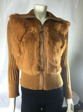 Rabbit Fur Woman's Light BrownJacket Size Medium