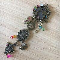 Alice In wonderland Fridge Magnet Charm Accessory, Bronze Charm Magnet gift
