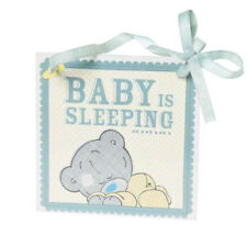 """BABY IS SLEEPING"" TATTY TEDDY WALL PLAQUE - ME TO YOU NURSERY DECOR - NEW BABY"
