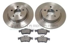 VOLVO S40 C30 C70 V50 2004-2011 REAR 2 BRAKE DISCS & PADS SET NEW