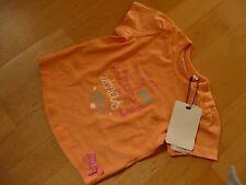 Tom Tailor T-Shirt Gr.74 6-9 Monate ungetragen helles orange mit Druck Baumwolle