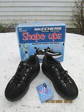 Skechers Shape Ups Optimize Women's Size 8.5 Black Suede Walking Shoes