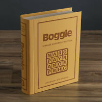 Boggle Vintage Bookshelf Edition Deluxe Linen Book Word Building Game New 1976