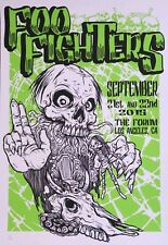 Foo Fighters Poster - Los Angeles The Forum Skull - Dave Grohl