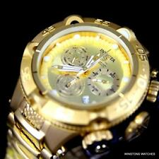 Invicta Subaqua Noma V Gold Plated Stainless Steel Chronograph 50mm Watch New