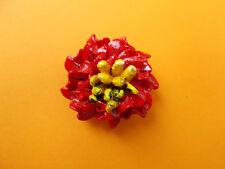 Red Camellia Spilla Floreale Matrimonio Natale bavero fiore fatto a mano dipinti a mano